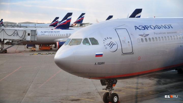 «Аэрофлот» задерживает самолет из Шереметьево в Екатеринбург, рейсы еще в 13 городов отменены