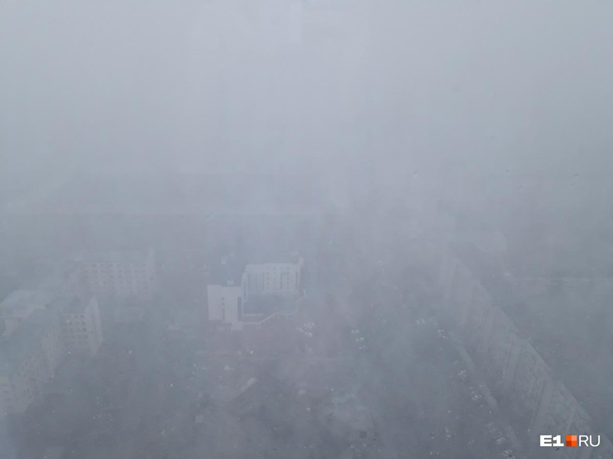 Так город выглядел с 42 этажа «Высоцкого»