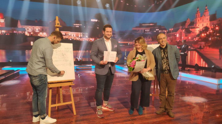 Руководитель «Тотального диктанта» побывала на белорусском аналоге шоу «Вечерний Ургант»