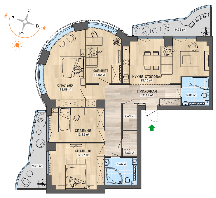 Большая квартира для семьи: застройщик дал совет, как сэкономить на расширении жилплощади