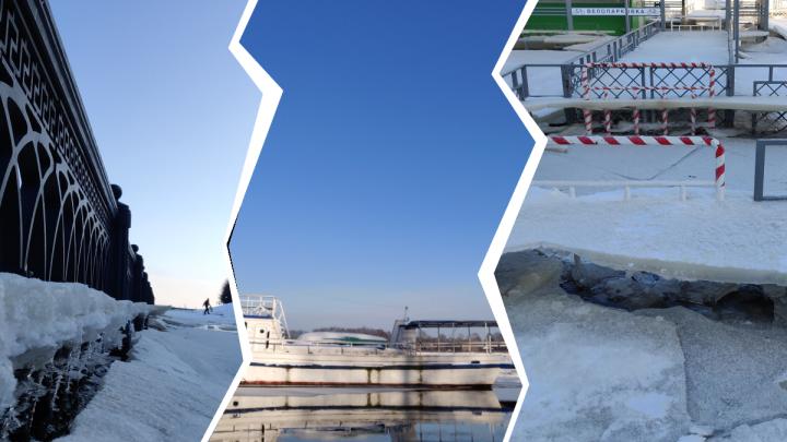 «Льдины легли на набережную»: фотограф из Ярославля проверил, правду ли про паводок сказал губернатор