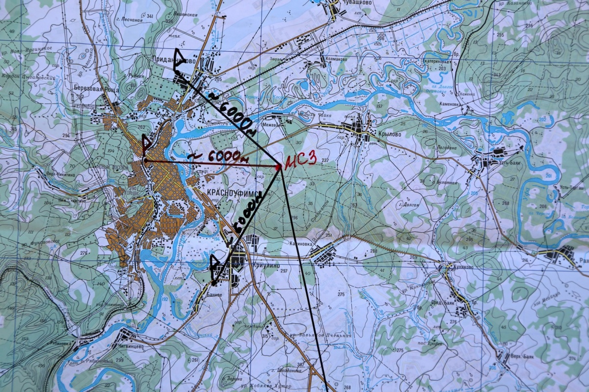 Красным на карте отмечено место будущего завода