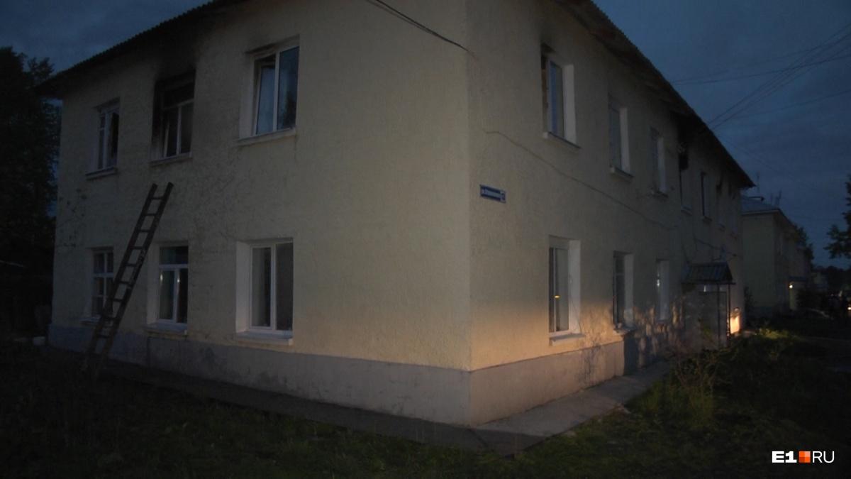 Женщина жила в квартире на втором этаже