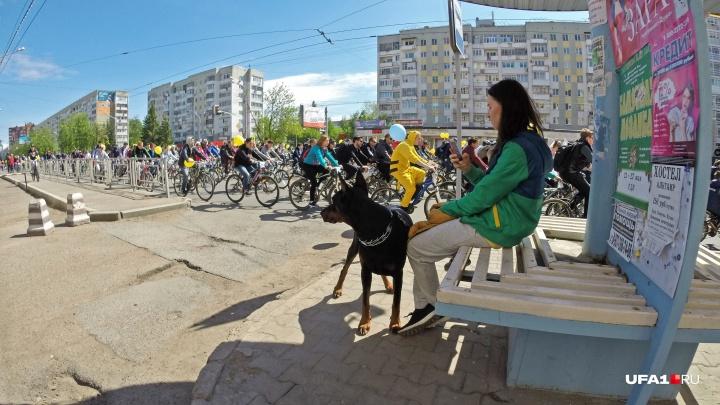 Выбираем объезды: «День 1000 велосипедистов» заблокировал дороги в Уфе