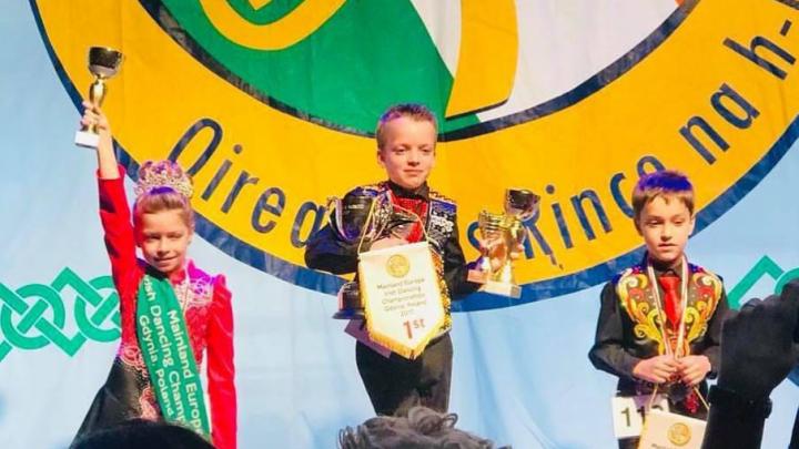 8-летняя уфимка завоевала кубок на чемпионате Европы по ирландским танцам