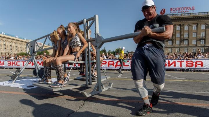В Волгограде десять самых сильных мужчин России потянут 25-тонный автобус