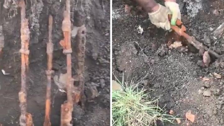 Ростовские поисковики откопали оружейный арсенал