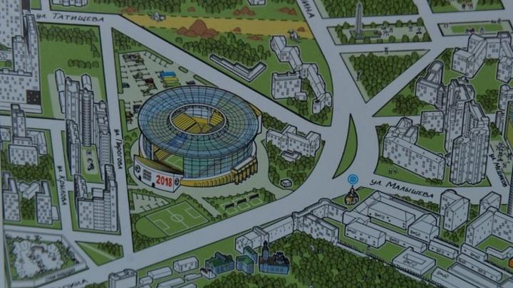 В Екатеринбурге выпустят для иностранцев необычную карту города с Ройзманом и Гагариным
