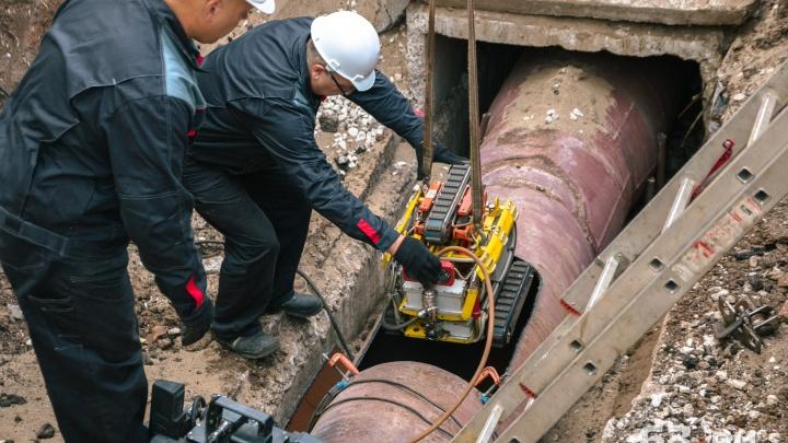 В Самаре трубы отопления проверил специальный робот
