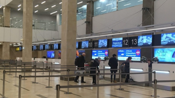 Из-за морозов в районах края проблемы с транспортом сохраняются на автовокзале и в аэропорту