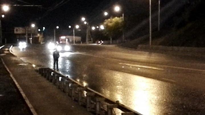 Уфимец спас пешехода, который выбежал на оживлённую дорогу