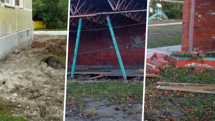 «Дети бегают, получают травмы»: вдетском саду в Академгородке развалились крыльцо и веранда