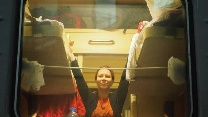 Финские путешественники добираются до Таиланда. В пути они восхитились осенью в Красноярске