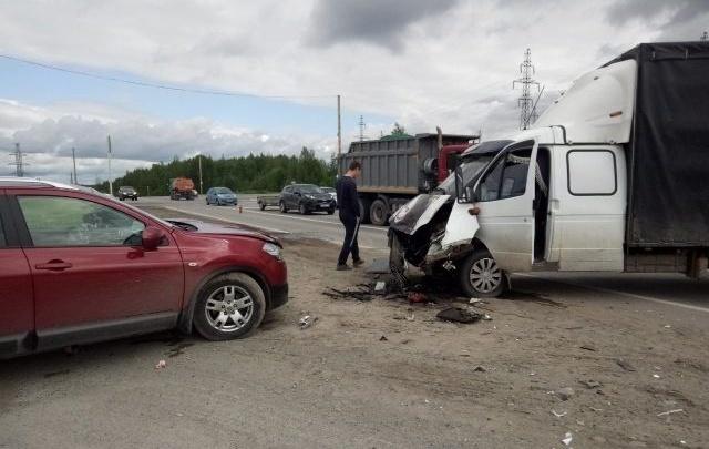 В Прикамье на трассе произошла авария, в которой пострадали двое детей