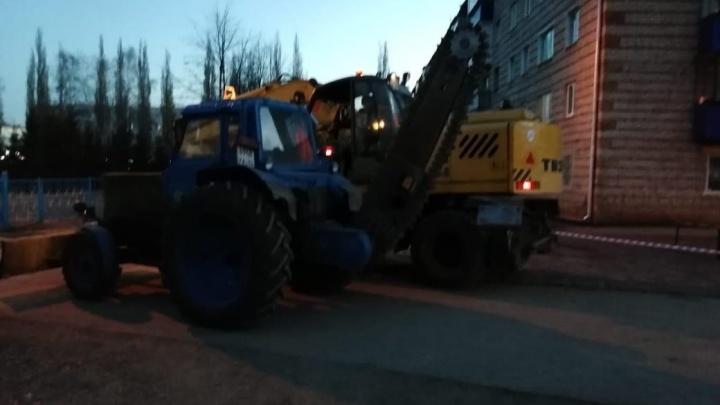 В Башкирии девять домов и школа остались без воды из-за прорыва трубопровода