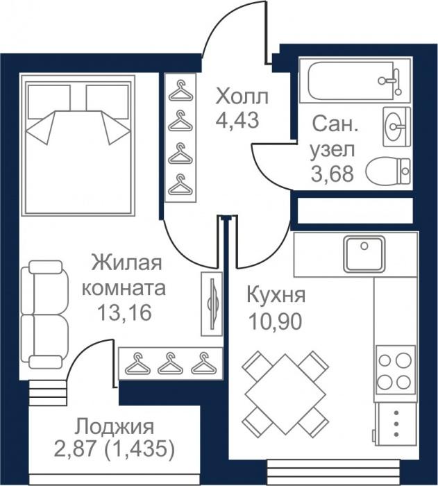 Даже однушки в «Луче» классически верные. С правильной формы кухней и спальней, которую можно удачно зонировать