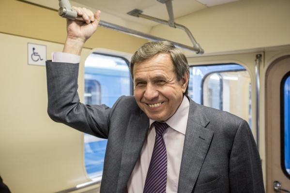 Владимир Городецкий в новосибирском метро