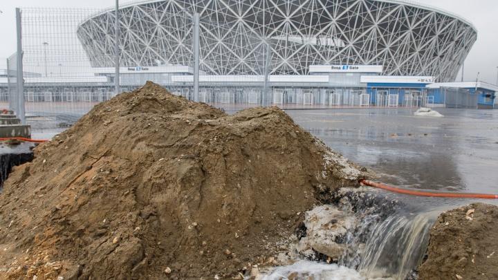 «Не соединили трубу»: склоны рядом с «Волгоград Ареной» поплыли из-за новой ливневки