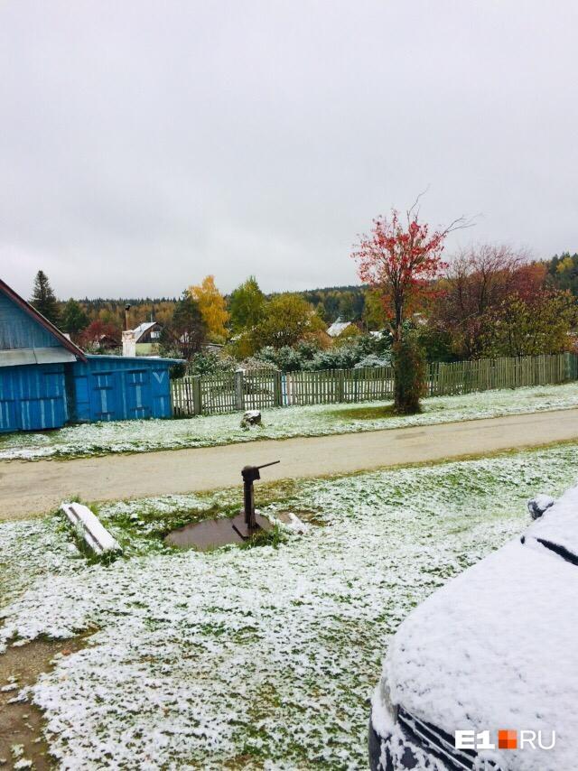 Снег в Дегтярске