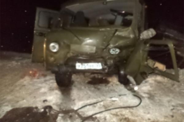 Водитель УАЗа скончался на месте