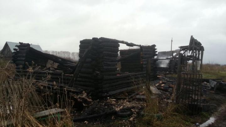 В башкирской деревне сгорел жилой дом