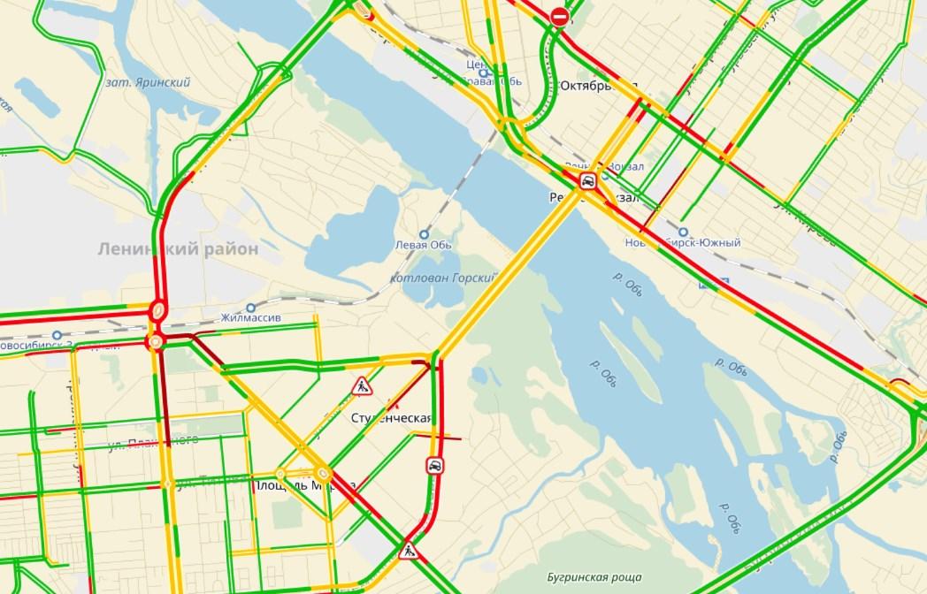 Утренние ДТП спровоцировали 5-балльные пробки на дорогах  Кемерова