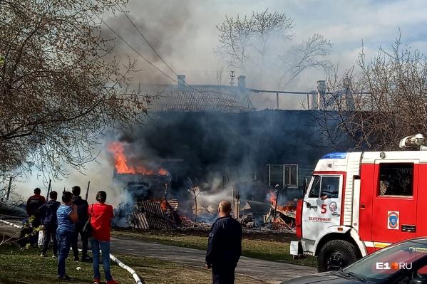Так горел дом в Пугачевском переулке