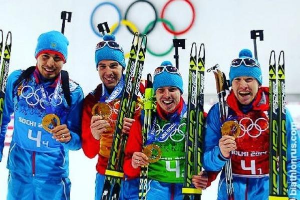 Российские биатлонисты завоевали золото в эстафете на Олимпиаде в Сочи, и их лишат этих медалей