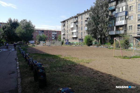 В полиции отметили, что на этом поле во дворе иногда играют и взрослые люди