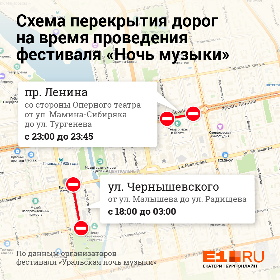 Проспект Ленина закроют на 45 минут