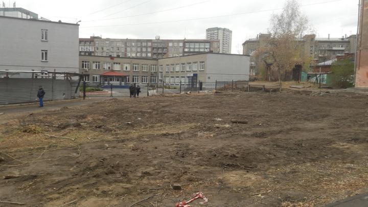 Мэр Локоть запретил строительство бизнес-центра у лицея на Советской