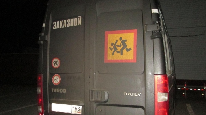 На трассе под Самарой столкнулись «Ларгус» и автобус с детьми