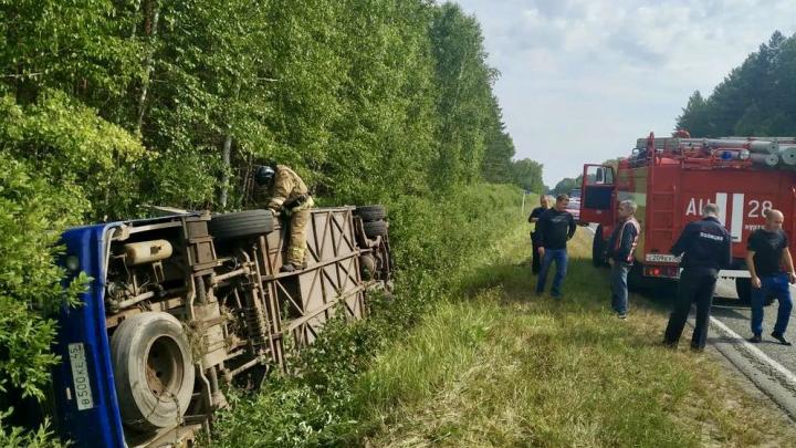 Прокуратура Зауралья закончила проверку перевозчика, чей автобус перевернулся на трассе у Куртамыша