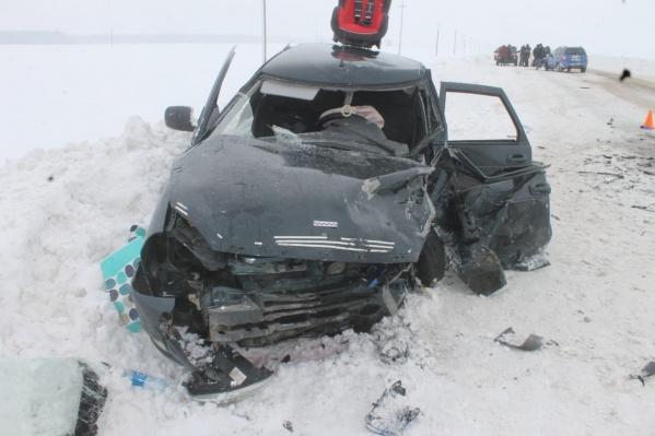 Вся семья, находившаяся в автомобиле«Лада-Приора», оказалась в больнице