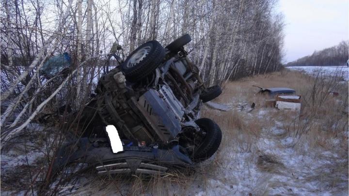 В Шумихинском районе перевернулся автомобиль: пассажир получила травмы, водитель погиб