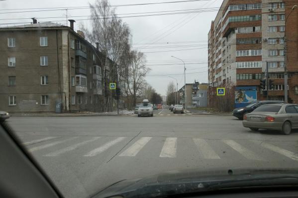 Вид на новый проезд с перекрёстка улиц Гаранина и Бориса Богаткова