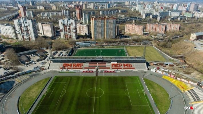 В Перми ищут подрядчика, который заменит покрытие футбольного поля на стадионе «Звезда»