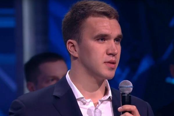 Никита стал первым, кто произнёс речь после оглашения победителей