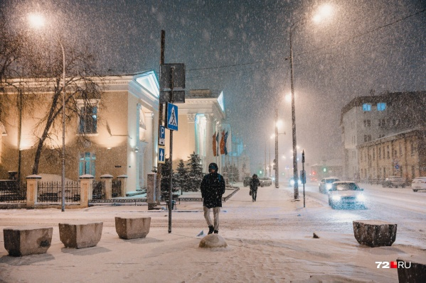 В город вместе с потеплением придут осадки и метель.Такая погода продержится в Тюмени в течение двух-трех дней