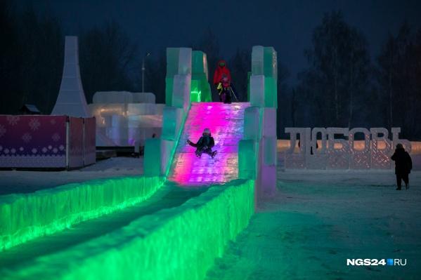 Ледовый городок на острове Татышев начал работать 26 декабря