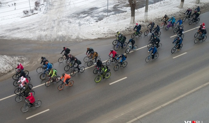 Волгоградские велосипедисты собираются на очередной зимний велопарад