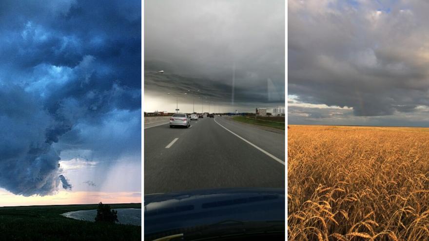 Грозовые тучи и радуга в тюменском небе: любуемся кадрами хмурого сентябрьского понедельника
