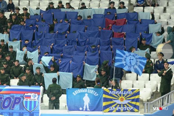 Матч волгоградского «Ротора» посмотрели больше 13 тысяч зрителей
