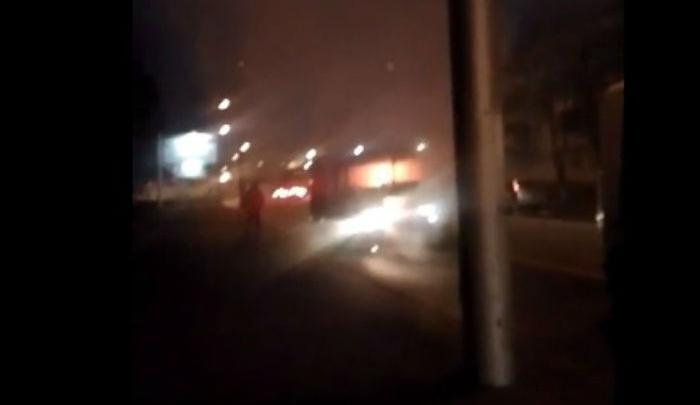 В Уфе на ходу загорелась маршрутка