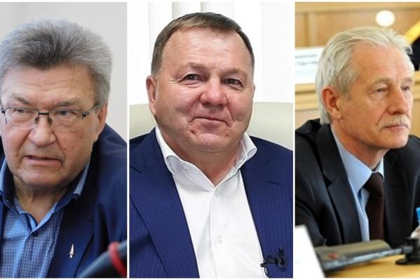 Слева направо:Анатолий Омельчук,Геннадий Рязанов иАнатолий Сушинских