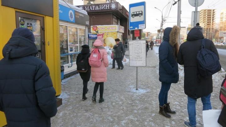 Новосибирцы заметили неудобные дорожные знаки посреди тротуара на Красном проспекте