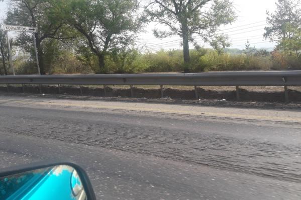 Водители жаловались на неровности трассы