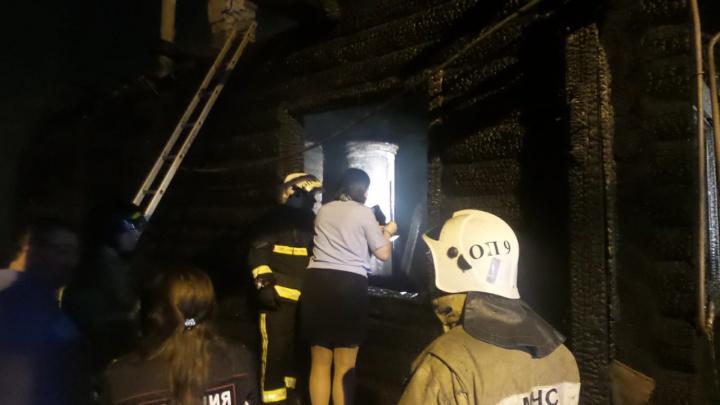При пожаре в Косулино погибли два человека