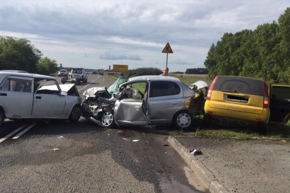 Авария случилась на Ордынской трассе