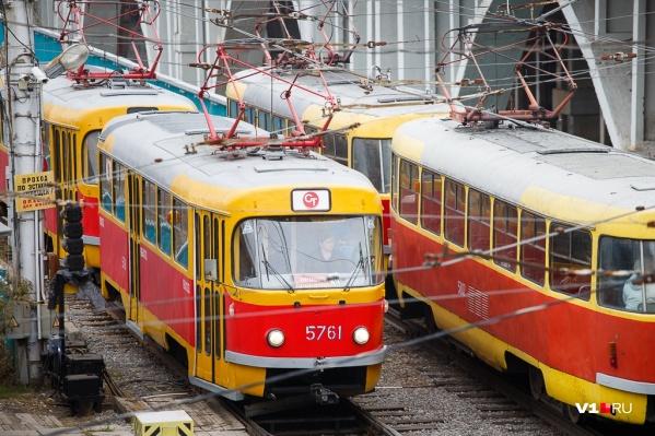 Скоростной трамвай работает в штатном режиме
